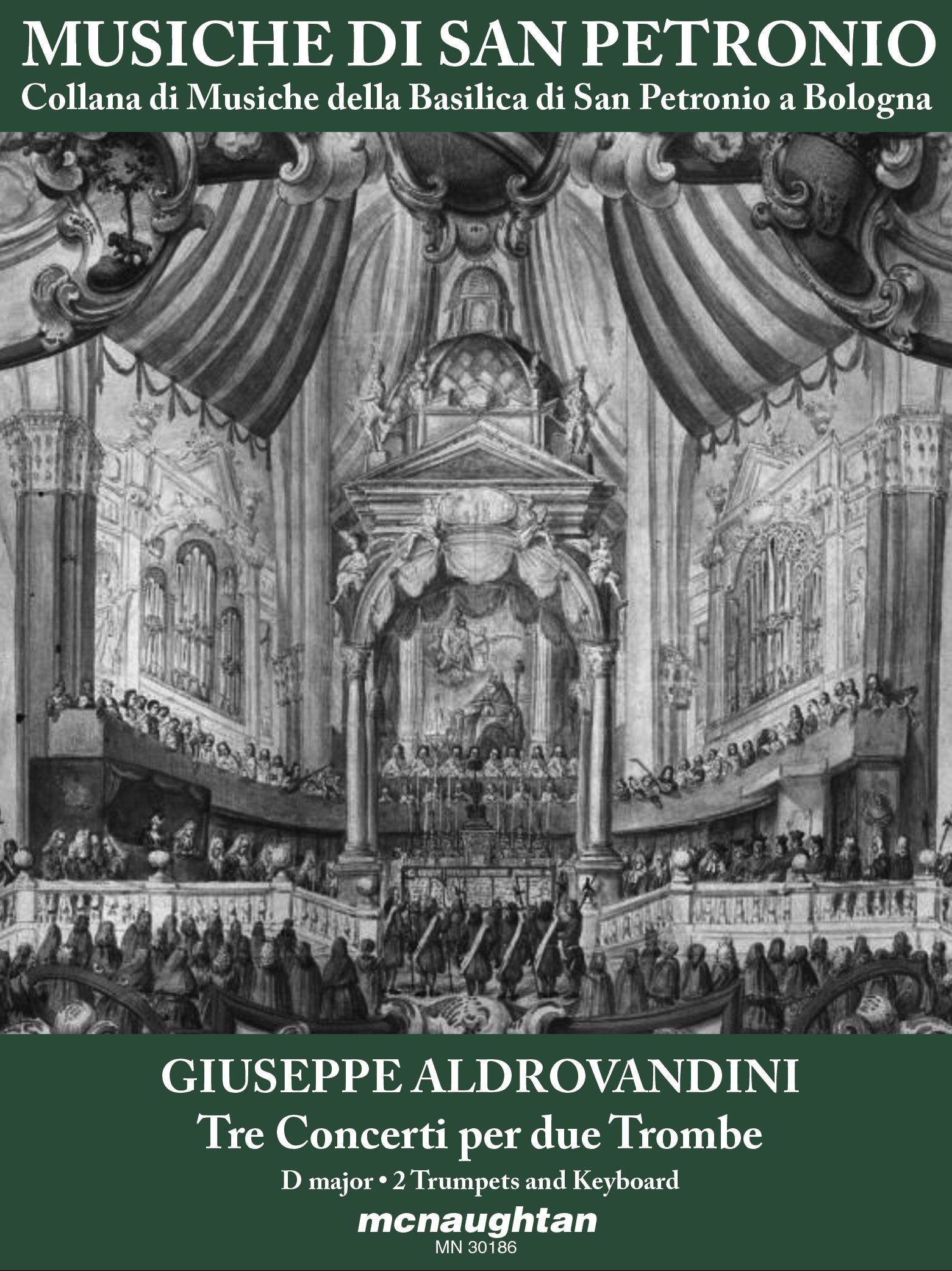 ALDROVANDINI 3 Concerti per due Trombe D major Score+Parts
