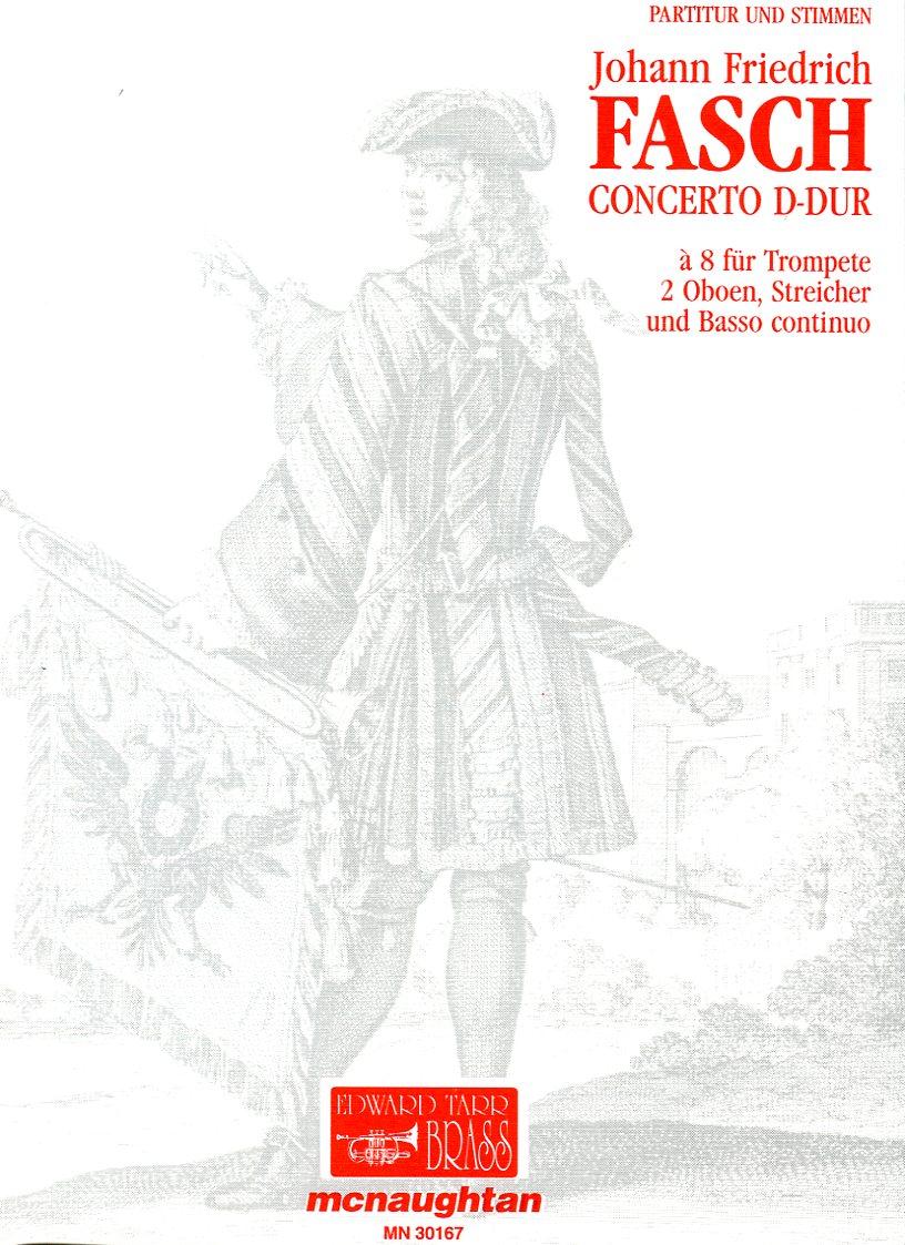 FASCH Concerto D major Score+Parts