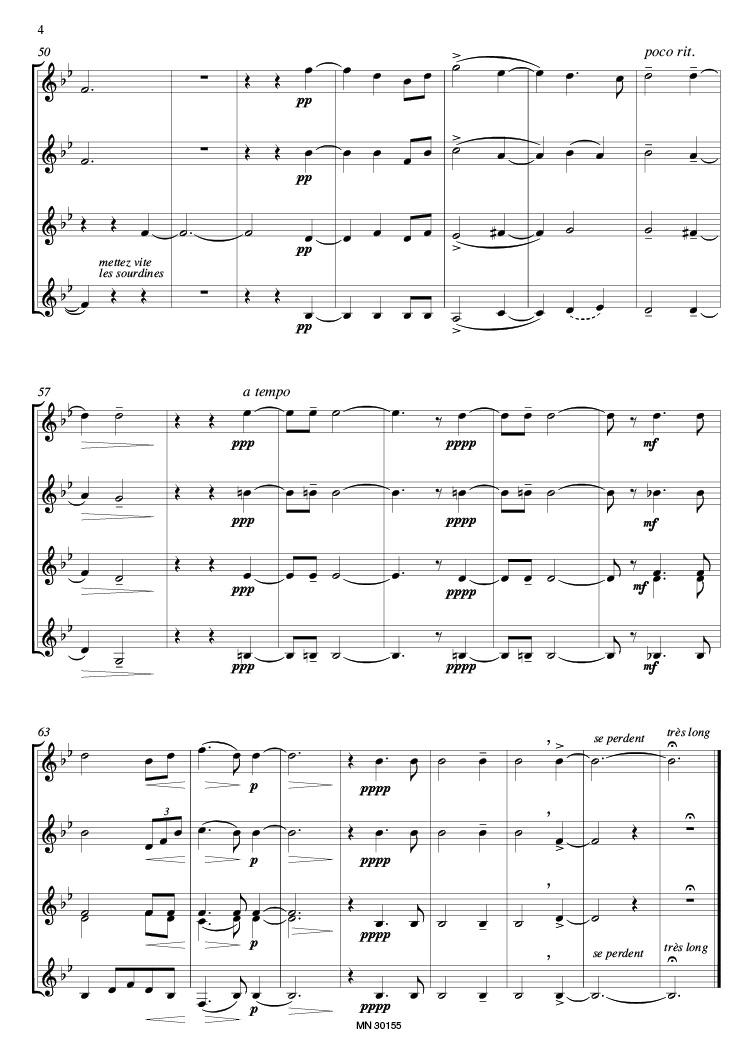 ENESCU Au Soir (4-8 Trumpets) Score+Parts